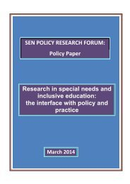 SEN Research Policy Paper SENPRF March 2014