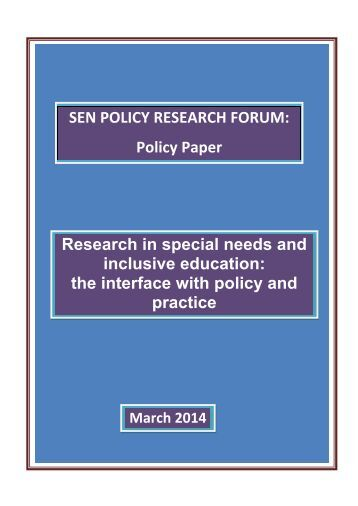 SEN policy and information report: model