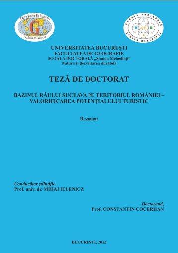 REZUMAT TEZA COCERHAN.pdf - Universitatea din București