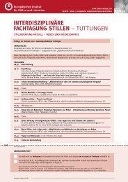 interdisziplinäre fachtagung stillen - Europäisches Institut für Stillen ...
