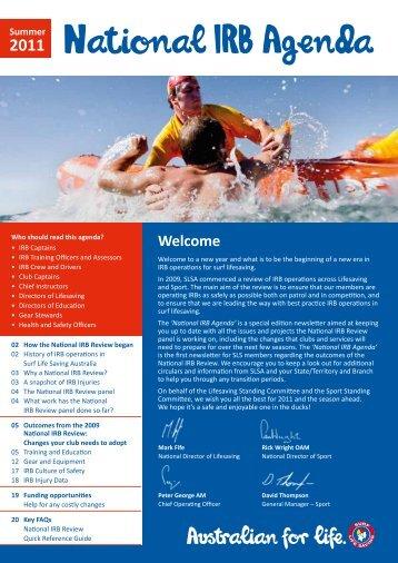 National IRB Agenda - Surf Life Saving Australia