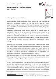 ANDY WARHOL – FRÜHE WERKE - Stiftung für Kunst und Kultur eV