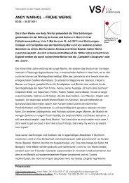 andy warhol - Stiftung für Kunst und Kultur eV