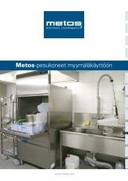 Metos-pesukoneet myymäläkäyttöön