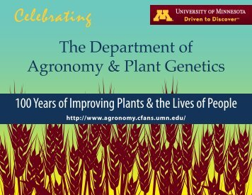 Agronomy and Plant Genetics 100 Years No.2 - Department of ...