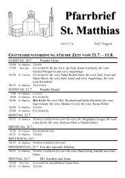 21. Juli - 6. August 2013.pdf - St. Matthias