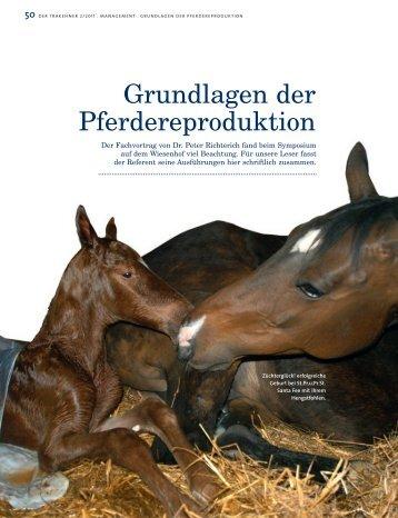 Grundlagen der Pferdereproduktion - Peter Richterich