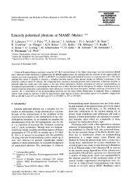 Linearly polarized photons at MAMI (Mainz) - Nuclear Physics ...