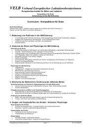 VELB Verband Europäischer Laktationsberaterinnen