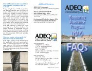 MAP monitoring assistance program faqs brochure - Arizona ...