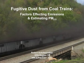 Fugitive dust from coal trains: Factors affecting emissions and ...