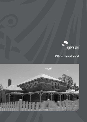 2011 - 2012 annual report - Community Law
