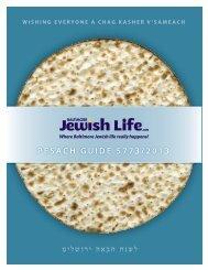 PESACH GUIDE 5773/2013 - Baltimore Jewish Life