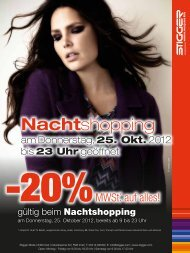 Nachtshopping - Stigger Mode - FMZ Imst