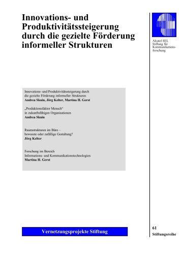 Innovations - Alcatel-Lucent Stiftung für Kommunikationsforschung