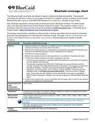 BlueCaid Coverage Chart - e-Referral - BCBSM.com