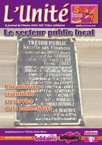 Le secteur public local