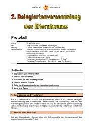 Protokoll der Delegiertenversammlung vom 25. Oktober 2011