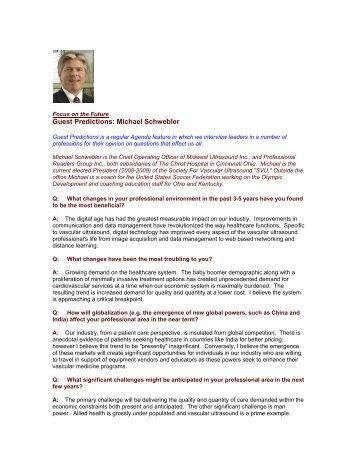 Guest Predictions: Michael Schwebler - The Regis Group Inc