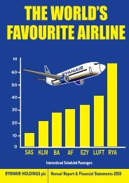 RYANAIR HOLDINGS plc Annual Report & Financial Statements 2010