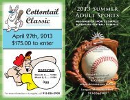 2013 Adult CottonTail Classic Tournie -MASC - Johnson County ...