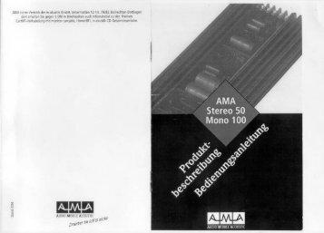 Handbuch für AMA Stereo 50 und Mono 100