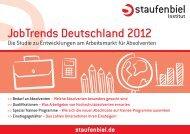 Studie Staufenbiel JobTrends 2012
