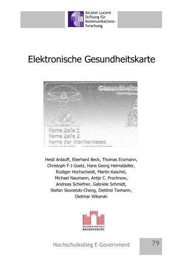 Elektronische Gesundheitskarte - Alcatel-Lucent Stiftung für ...