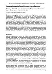 Neuropsychologische Perspektiven des Pusher ... - Stefan Schädler
