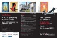 1876–1972 1887–1965 Öffnungszeiten Di – So ... - Freiburg für Alle
