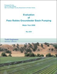 Evaluation of Paso Robles Groundwater Basin Pumping