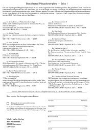 Bestellzettel Mängelexemplare — Seite 1