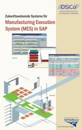 Manufacturing Execution System (MES) in SAP