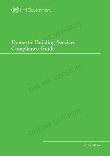 Domestic Building Compliance Guide 2010 - PhotonStar LED