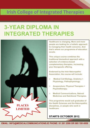 3-year diploma in integrated therapies - Practice Management