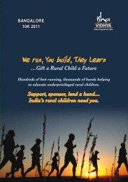 We run, You build, They Learn - Isha Vidhya