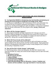 questions & answers: new national girl scout program