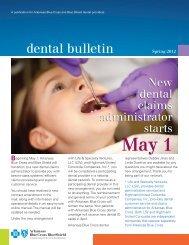 dental bulletin - Arkansas Blue Cross and Blue Shield