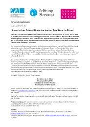 Literarischer Salon: Kinderbuchautor Paul Maar ... - Stiftung Mercator
