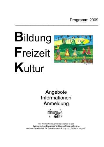 Veranstaltungskalender 2009 - Stiftung Scheuern