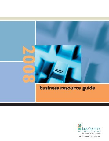 business resource guide - Bonita Springs Chamber of Commerce