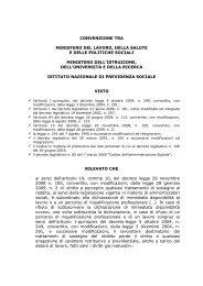 CONVENZIONE TRA MINISTERO DEL LAVORO ... - CISL Scuola
