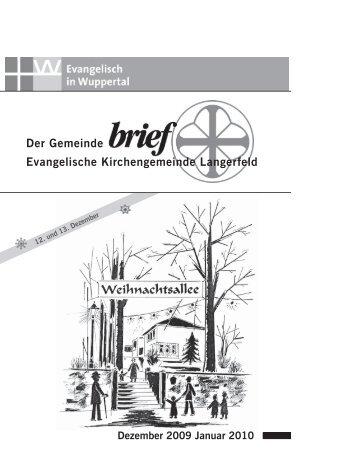 Der Gemeinde Evangelische Kirchengemeinde Langerfeld