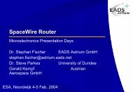 SpaceWire Router - Microelectronics - ESA