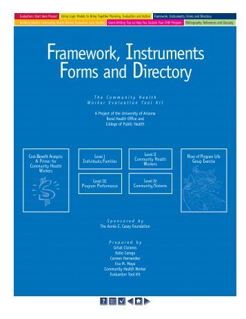 Framework, Instruments Forms and Directory - University of Arizona