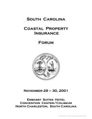 South Carolina Coastal Property Insurance Forum November 29