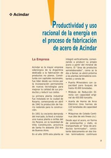 Productividad y uso racional de la energía en el proceso de ...