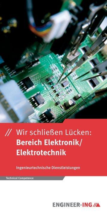 ⁄⁄ Wir schließen Lücken: Bereich Elektronik/ Elektrotechnik - Job AG