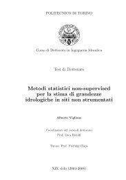 Metodi statistici non-supervised per la stima di ... - idrologia@polito