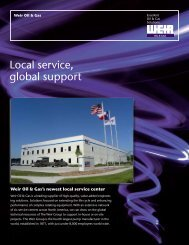 Local service, global support - Weir Oil & Gas Division